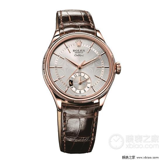 白盘/劳力士切利尼系列双时型系列50525白盘腕表...
