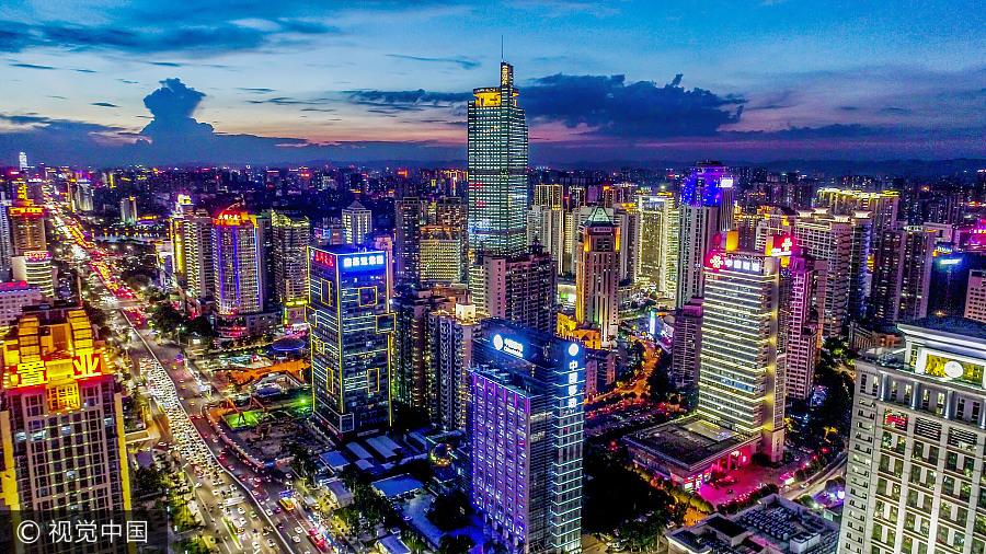 第14届中国-东盟展览会12日开幕 航拍南宁都会风景美如画
