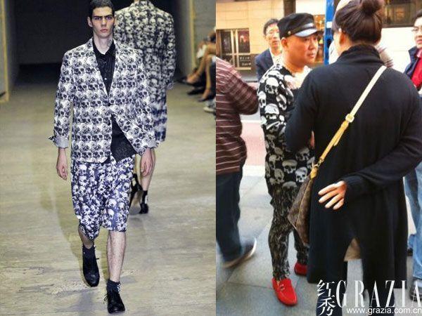 男红鞋搭配衣服图片