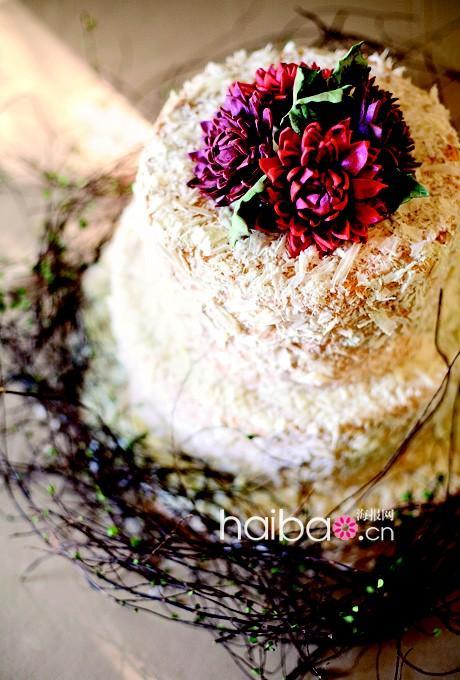 花卉装饰婚礼蛋糕精致动人 1 时尚中国