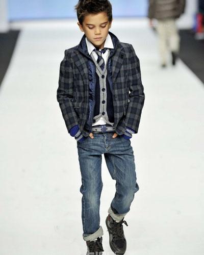 米兰男童时装秀2012冬季新品发布