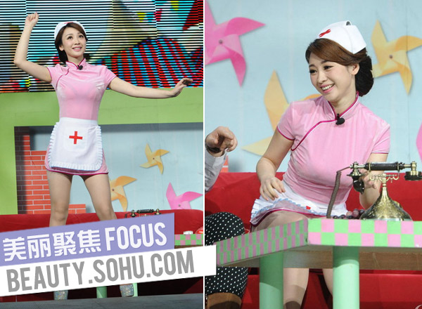 林志玲常规装PK刘晓庆女仆护士装有情趣用品性感的哪些图片