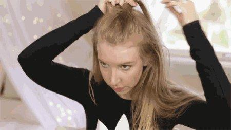 如何自己梳头发简单好看图解